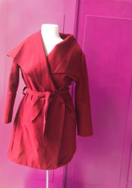 60's Warm Red Paris  Coat
