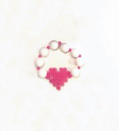 Armband Perler Beads Heart
