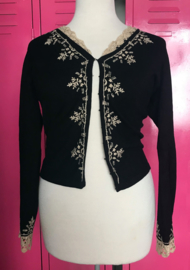 Black & White Embrodery Cardigan