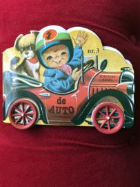 Vintage boekjes op wieltjes No.3 De Auto