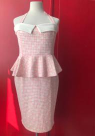 Daisy Halter Dress Powder Pink