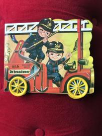 Vintage boekjes op wieltjes No.4 De Brandweer