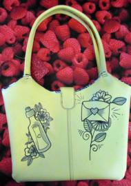 Handmade Spoonky Tattoo Bag Love Letters