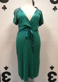 Emerald green knitted dress
