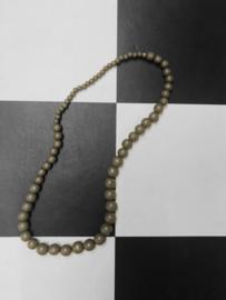 Vintage Kralen ketting - Grijs