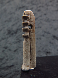 Ancient Egyptian faiance Djed/Zad amulet
