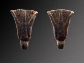 Egyptian Lapis doublesided Lotus flower amulet