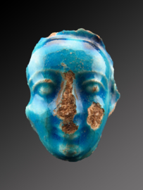 Egyptian faience face of Ptah