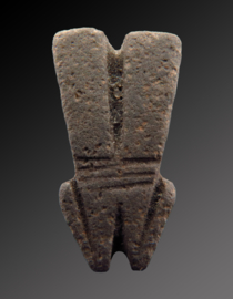 Egyptian stone amulet of a double Pharaos beard