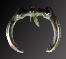 Ancient Bronze age bronze Luna amulet