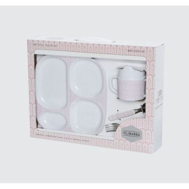 Filibabba melamine eetset 2 Indian Rose