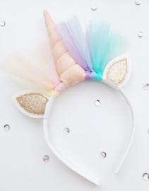 Unicorn diadeem perzik - goud
