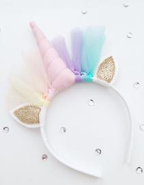 Unicorn diadeem pastelroze - goud