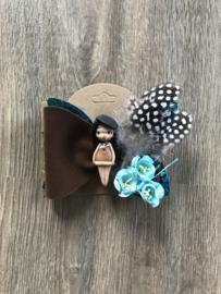 Handgemaakte haarspeld Pocahontas