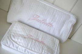Hoes voor vochtige doekjes sublime wit personaliseerbaar