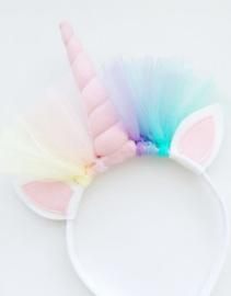 Unicorn diadeem pastelroze -  pastelroze