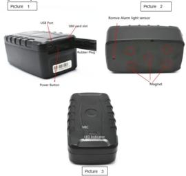 Auto Heavy duty GPS tracker met magneet 20000 mAh