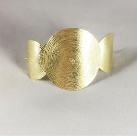 Armband gemaakt van 925 zilver en 18 krt goud in een exclusief design