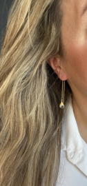 groene amethyst oorbellen