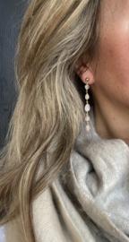 Maxima oorbellen rosequartz