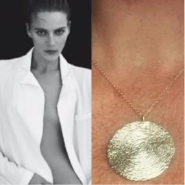 Ketting gemaakt van 925 zilver met 18 krt goud in een exclusief design