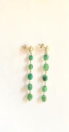 Emerald groene Maxima oorbellen