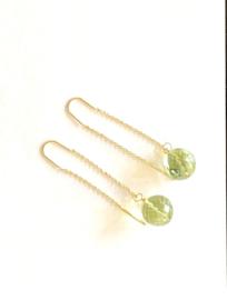 Groene quartz oorbellen
