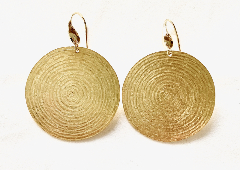 Oorbellen met grote ronde 'de l'or infini' hangers