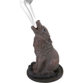 Wolf Incense Cone Holder by Lisa Parker.