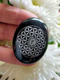 Obsidiaan Flower of Life