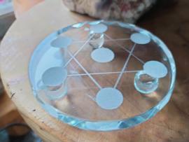 Grid plaat glas Merkaba