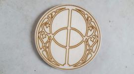 Chalice Well Glastonbury op hout 8 cm