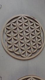 Flower of life  Levensbloem Disk  8 cm doorsnede