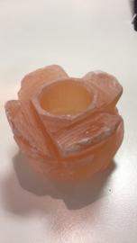 seleniet waxinelicht houder Lotus