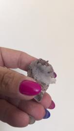Chalcedoon roosjes in geode