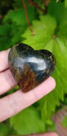 Blue Navy Opaal hart