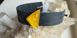 Barnsteen armband in leer