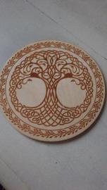 Tree of life   Disk  16 cm doorsnede