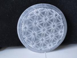 Seleniet disk Flower of Life 7.5 cm
