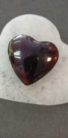 Blauwe Barnsteen hart