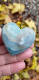 Amazoniet met Jade ( Caribean) hart