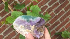 Lavendel Amethist met blauwe Fluoriet uit Erongo, Namibië (Aquarius steen)