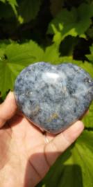 Blue Vane (Blauwe Kwarts met Dumortieriet en meer) Hart