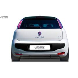 Achterskirt 'Diffusor' passend voor Fiat Punto Evo 2009- (ABS zwart glanzend)