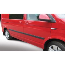 RGM Set Zijlijsten passend voor Volkswagen Transporter T6 2015- Lange wielbasis Zwart