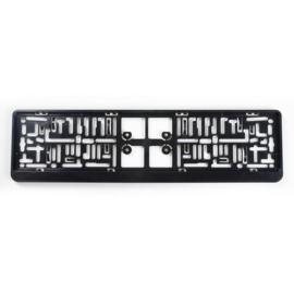 Kunststof kentekenplaathouder 'Click' 52x11cm Zwart