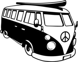 Vw Bus Muursticker