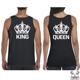 Tanktop King & Queen + Kroon