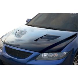 Chargespeed Motorkap passend voor Mazda 6 Fase I -2008 + Luchtinlaten (FRP)