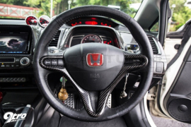 SK-Import J's Racing Style Stuur Cover Carbon Fiber Honda Civic